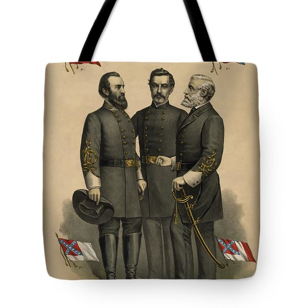 Generals Jackson Beauregard And Lee Tote Bag by War Is Hell Store