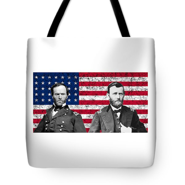 Generals Sherman and Grant  Tote Bag by War Is Hell Store