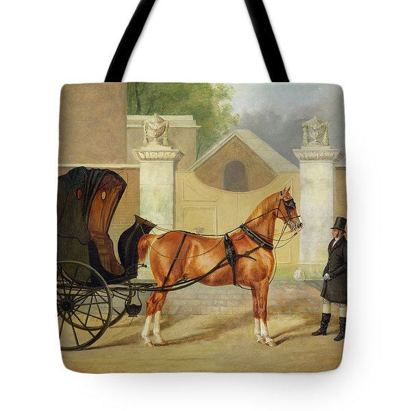 Gentlemen's Carriages - A Cabriolet Tote Bag by Charles Hancock