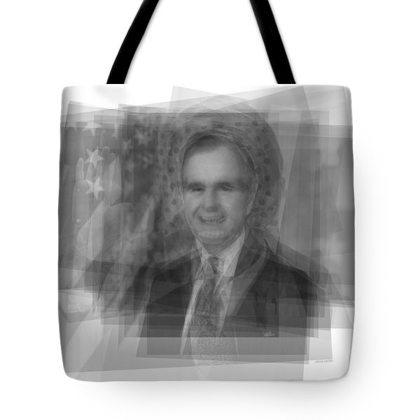 George H. W. Bush Tote Bag by Steve Socha