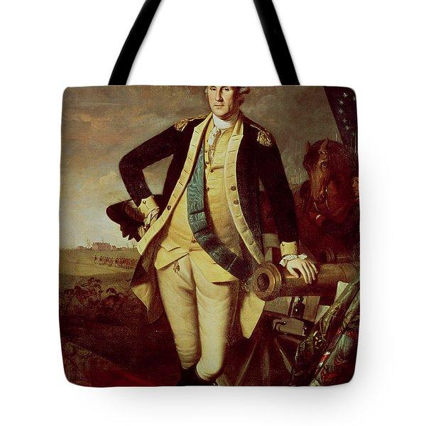 George Washington At Princeton Tote Bag by Charles Willson Peale