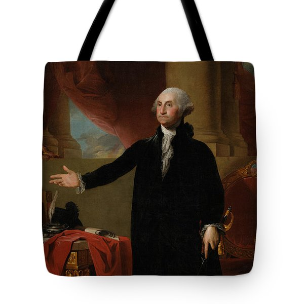 George Washington Lansdowne Portrait Tote Bag by War Is Hell Store
