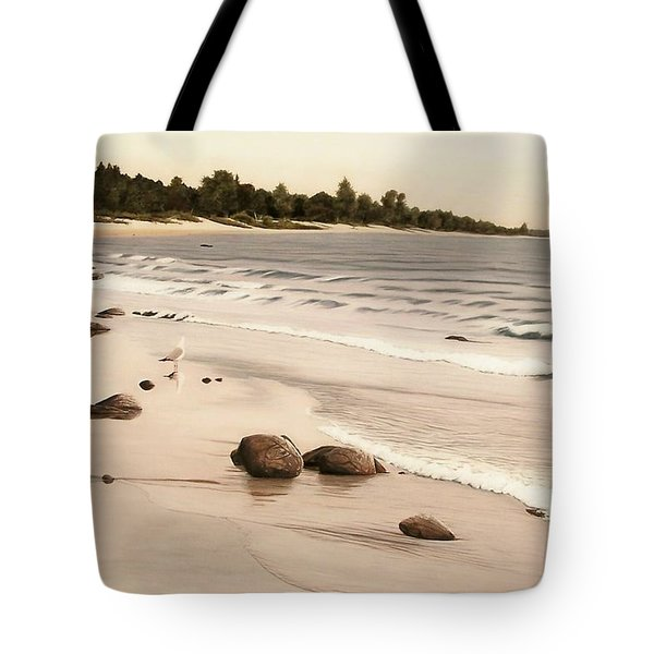 Georgian Bay Beach Tote Bag by Kenneth M  Kirsch