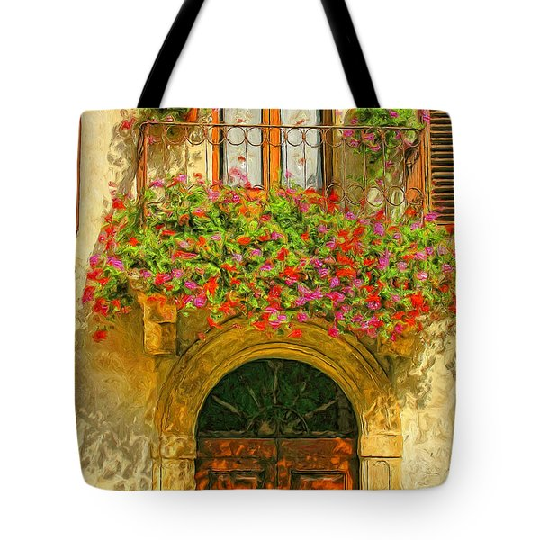 Gerani Coloriti Tote Bag by Dominic Piperata