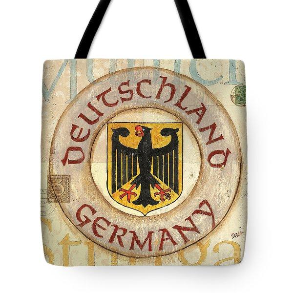 German Coat Of Arms Tote Bag by Debbie DeWitt
