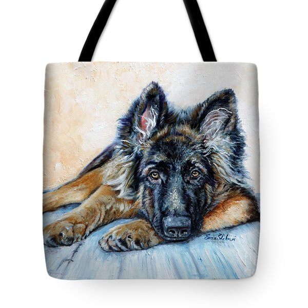 German Shepherd Tote Bag by Enzie Shahmiri