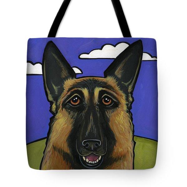 German Shepherd Tote Bag by Leanne Wilkes