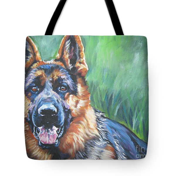 German Shepherd Tote Bag by Lee Ann Shepard