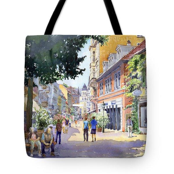 Germany Baden-Baden Lange Strasse Tote Bag by Yuriy  Shevchuk