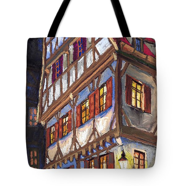 Germany Ulm Old Street Tote Bag by Yuriy  Shevchuk