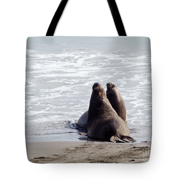 Get Off My Beach Tote Bag by Methune Hively