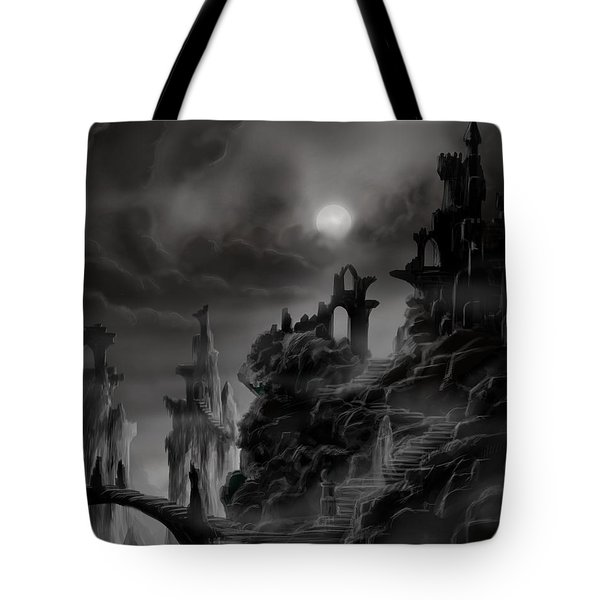 Ghost Castle Tote Bag by James Christopher Hill