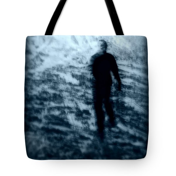 Ghost In The Snow Tote Bag by Perry Webster