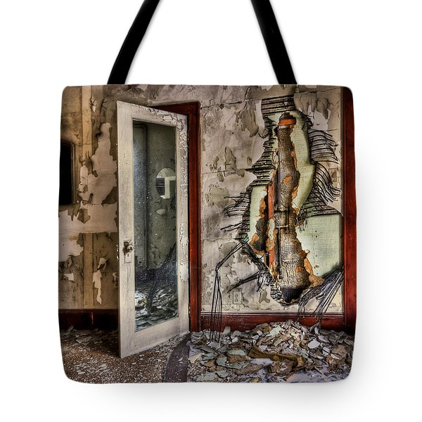 Ghost of Time Tote Bag by Evelina Kremsdorf