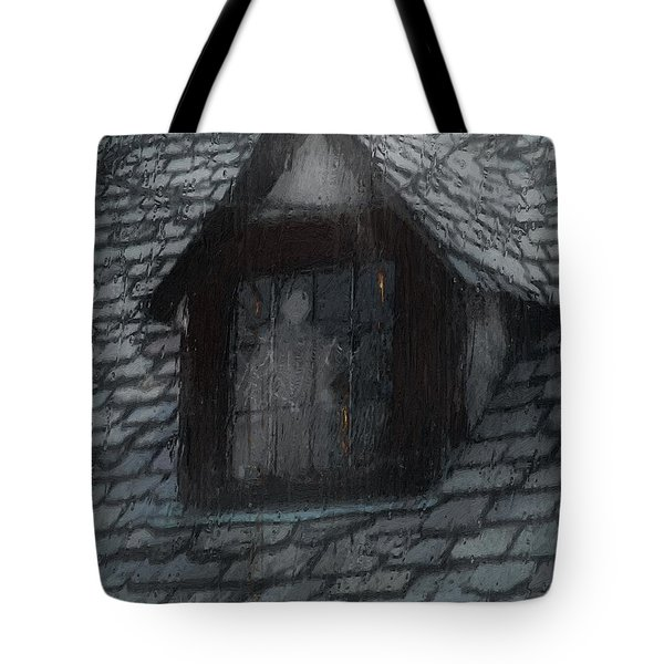 Ghost Rain Tote Bag by RC DeWinter