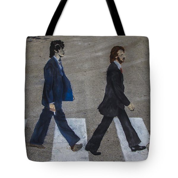 Ghosts Of Abby Road Tote Bag by Debra and Dave Vanderlaan