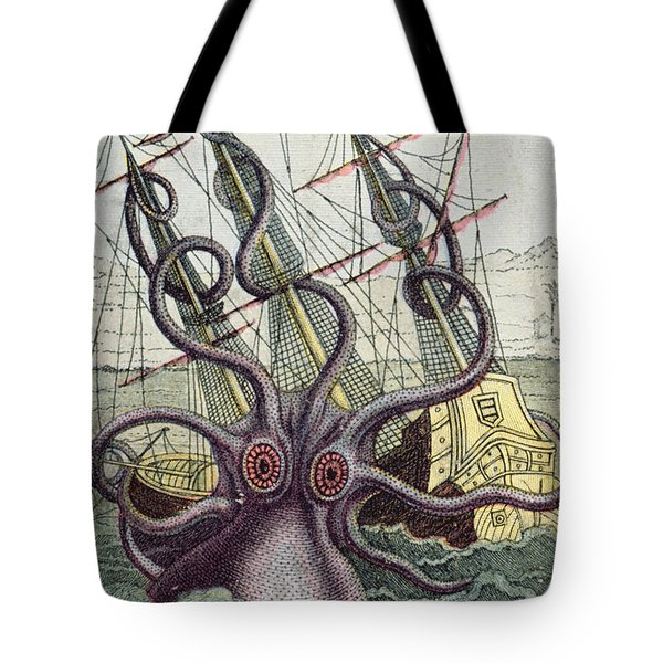 Giant Octopus Tote Bag by Denys Montfort