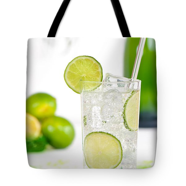 Gin And Tonic Drink Tote Bag by Amanda Elwell
