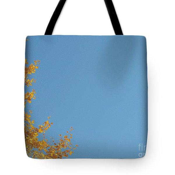 Ginkgo Fantasy In Blue Tote Bag by Eena Bo