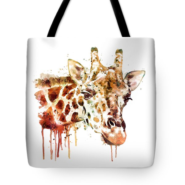 Giraffe Head Tote Bag by Marian Voicu