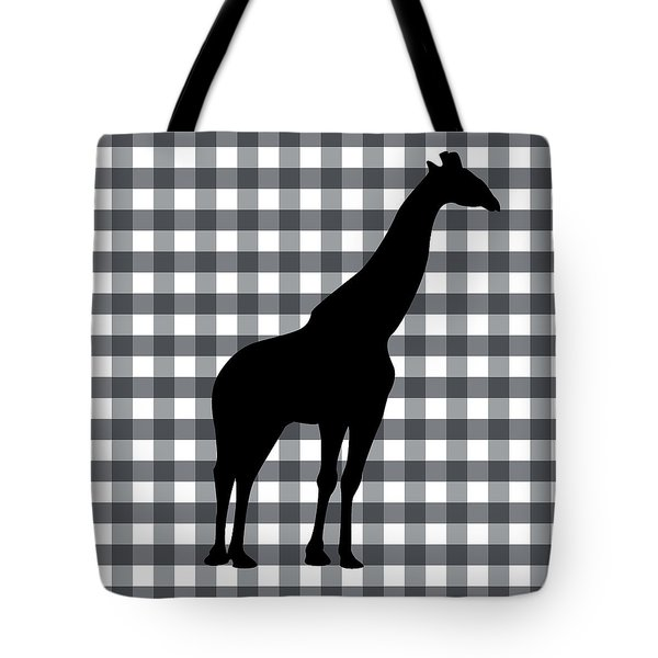 Giraffe Silhouette Tote Bag by Linda Woods