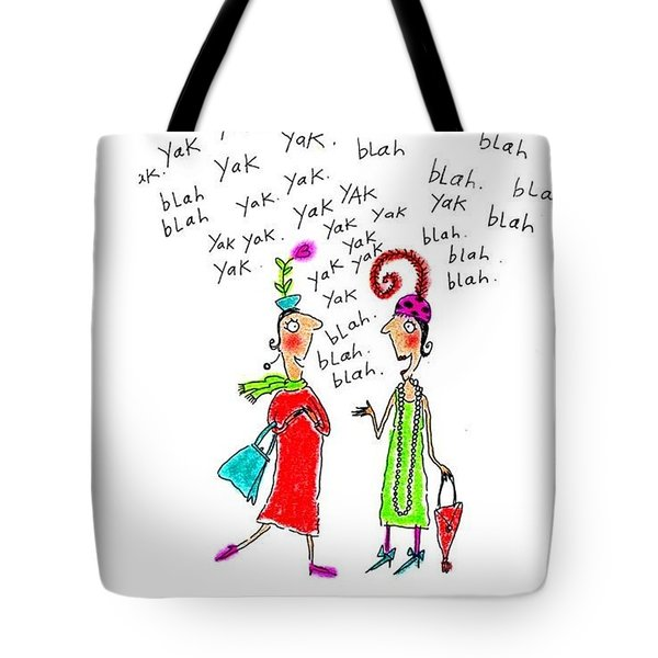 Girl Talk Tote Bag by Karon Melillo DeVega
