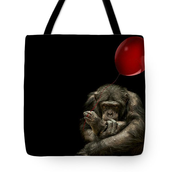 Girl With Red Balloon Tote Bag by Paul Neville