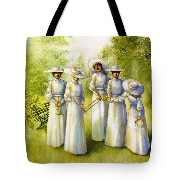 Girls In The Band Tote Bag by Jane Whiting Chrzanoska