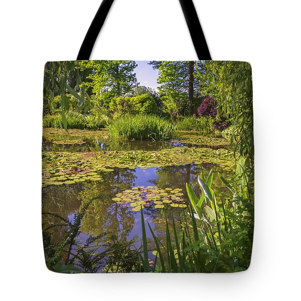 Giverny France - Claude Monet's Pond  Tote Bag by Allen Sheffield