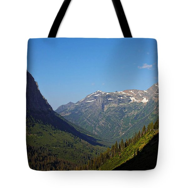 Glacier National Park MT - View from Going to the Sun Road Tote Bag by Christine Till