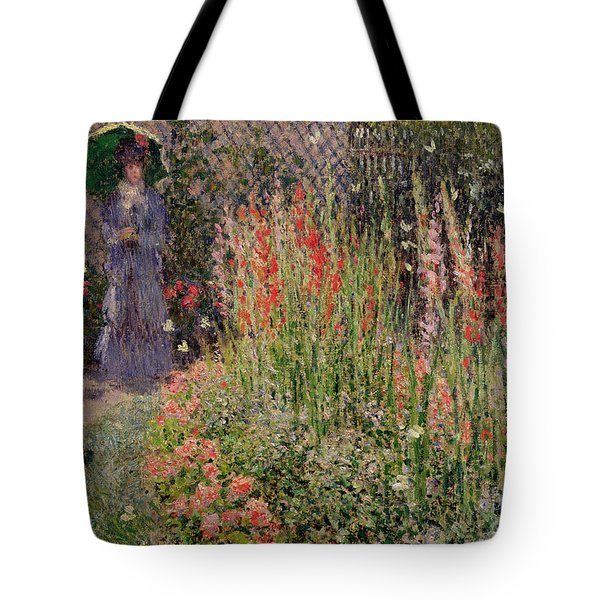 Gladioli Tote Bag by Claude Monet