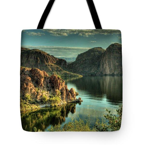 Glass Lake Tote Bag by Saija  Lehtonen