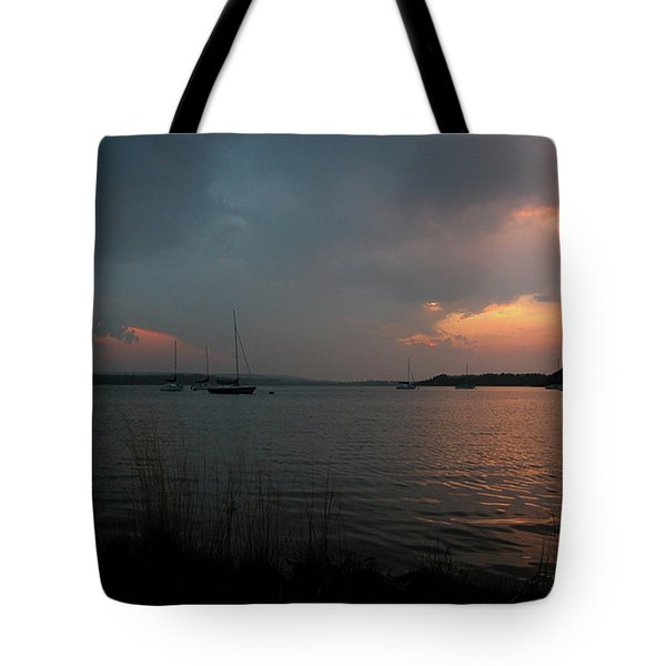 Glenmore reservoir - Sunset 3 Tote Bag by Stuart Turnbull