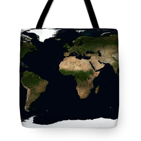 Global Image Of The World Tote Bag by Stocktrek Images