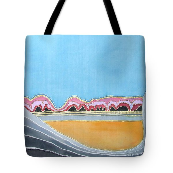 Global Warming Silk Melting Glaciers Valley Or Where Did All My Blue Glaciers Go  Tote Bag by Rachel Hershkovitz