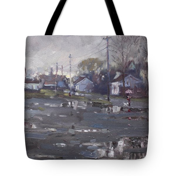Gloomy And Rainy Day By Hyde Park Tote Bag by Ylli Haruni