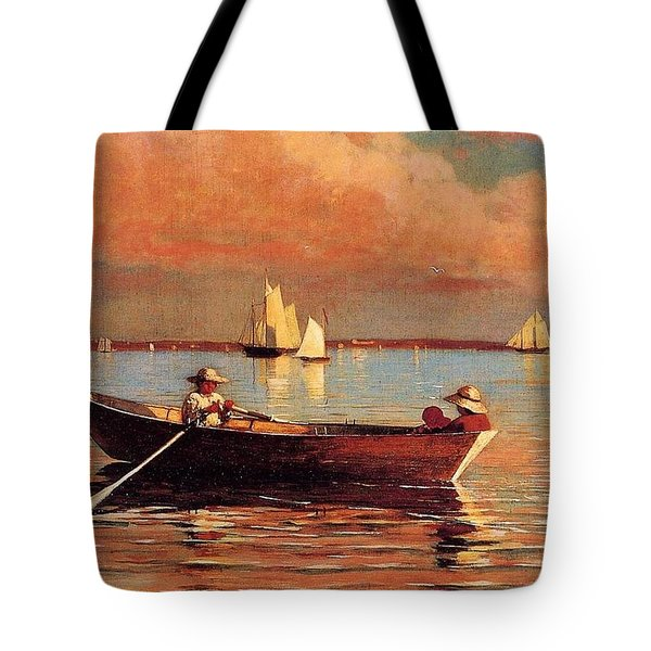 Gloucester Harbor Tote Bag by Winslow Homer