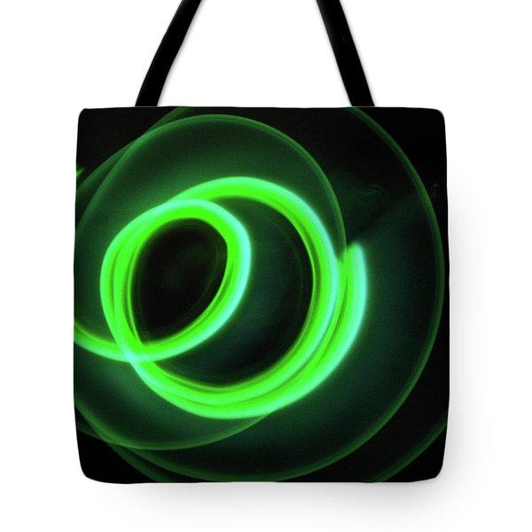 Glow Stick Motion Tote Bag by Denise Keegan Frawley