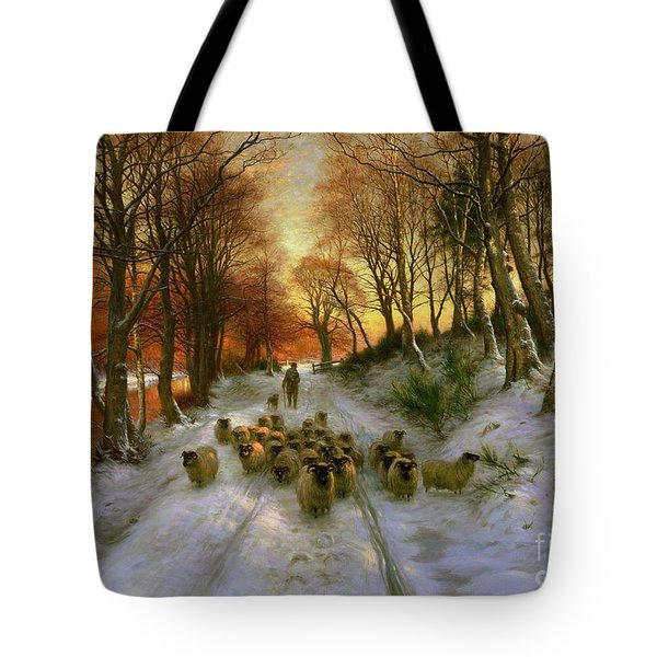 Glowed With Tints Of Evening Hours Tote Bag by Joseph Farquharson