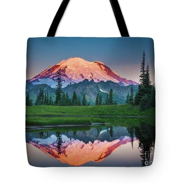Glowing Peak - August Tote Bag by Inge Johnsson