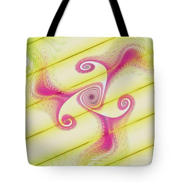 Gnarly Spiral Tote Bag by Deborah Benoit