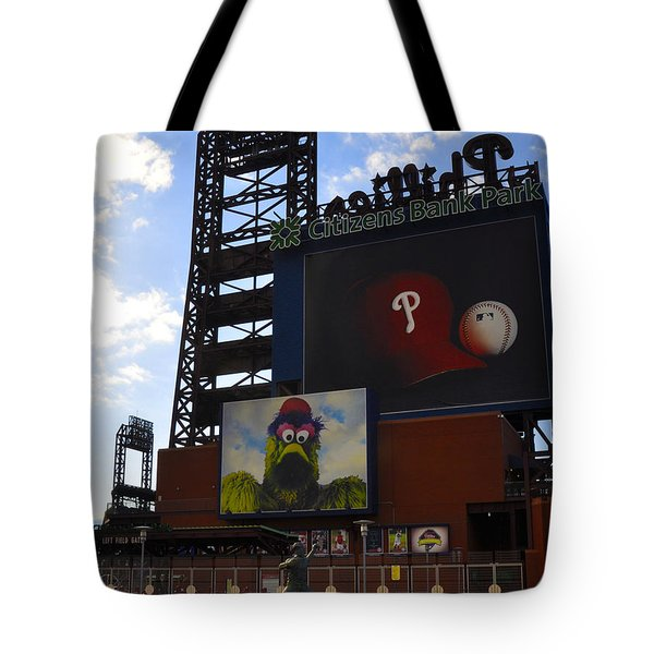 Go Phillies - Citizens Bank Park - Left Field Gate Tote Bag by Bill Cannon