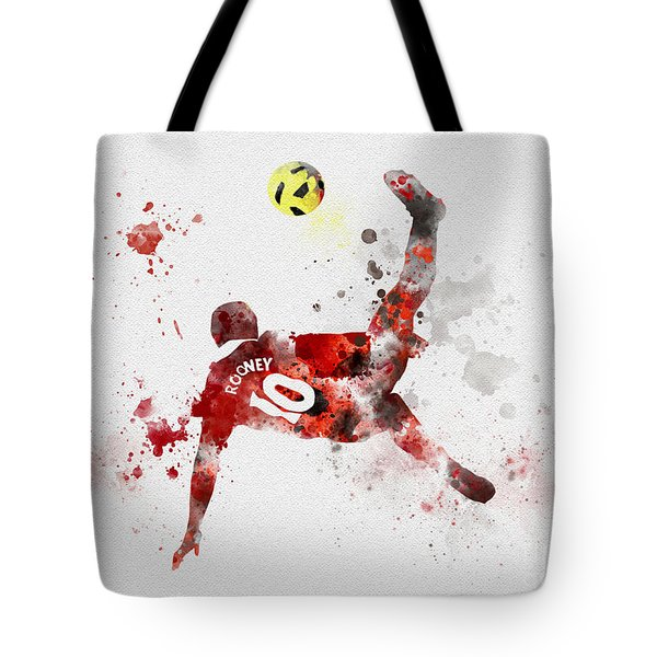 Goal Of The Season Tote Bag by Rebecca Jenkins