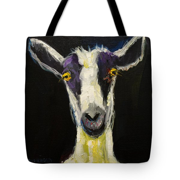 GOAT GLOAT Tote Bag by Diane Whitehead