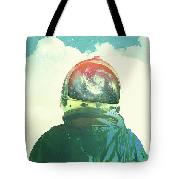 God Is An Astronaut Tote Bag by Fran Rodriguez