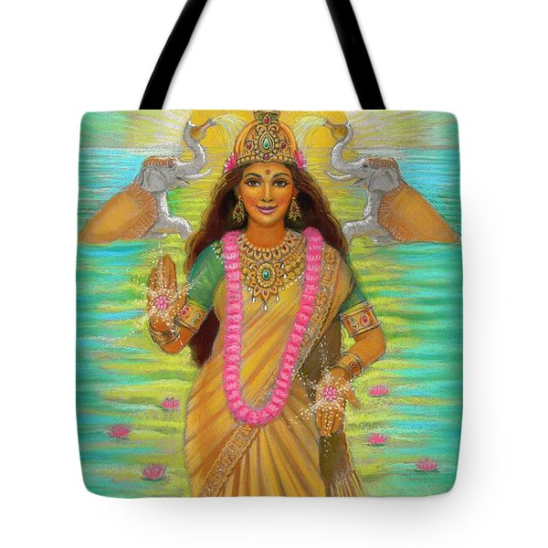 Goddess Lakshmi Tote Bag by Sue Halstenberg