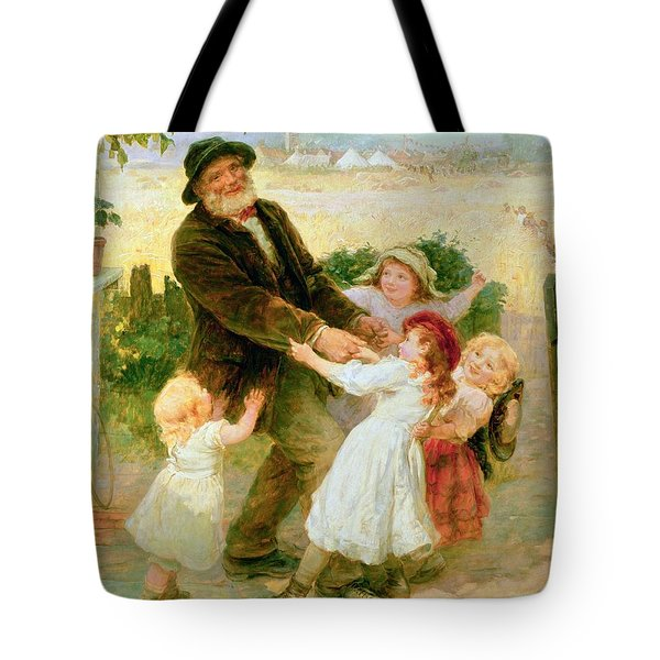 Going To The Fair Tote Bag by Frederick Morgan