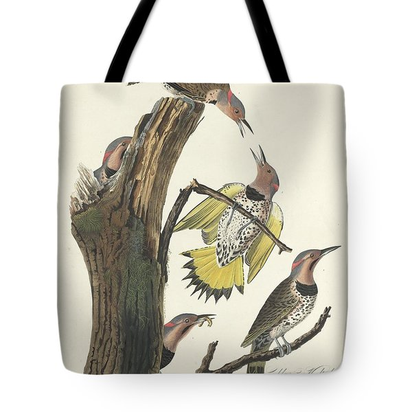 Gold-winged Woodpecker Tote Bag by John James Audubon