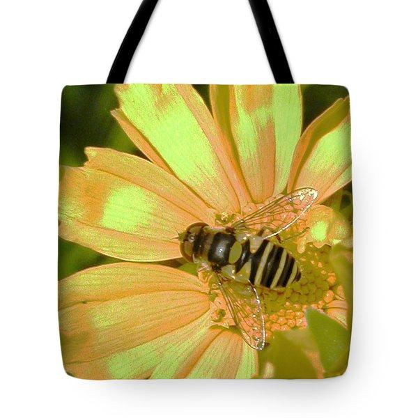Golden Bee Tote Bag by Karol Livote
