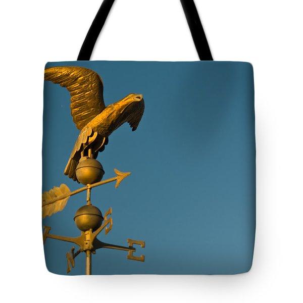 Golden Eagle Weather Vane Tote Bag by Douglas Barnett